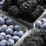 Blue and purple food