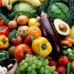 Lots of fresh fruit and vegetables