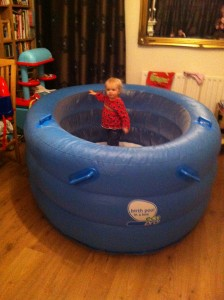 Trying out the birthing pool!