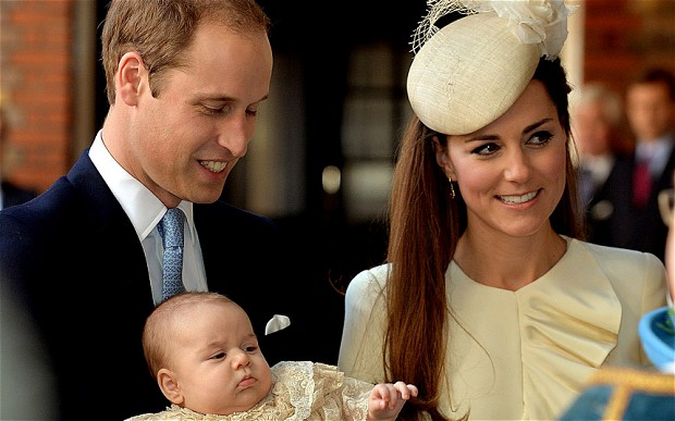 Baby George Christening