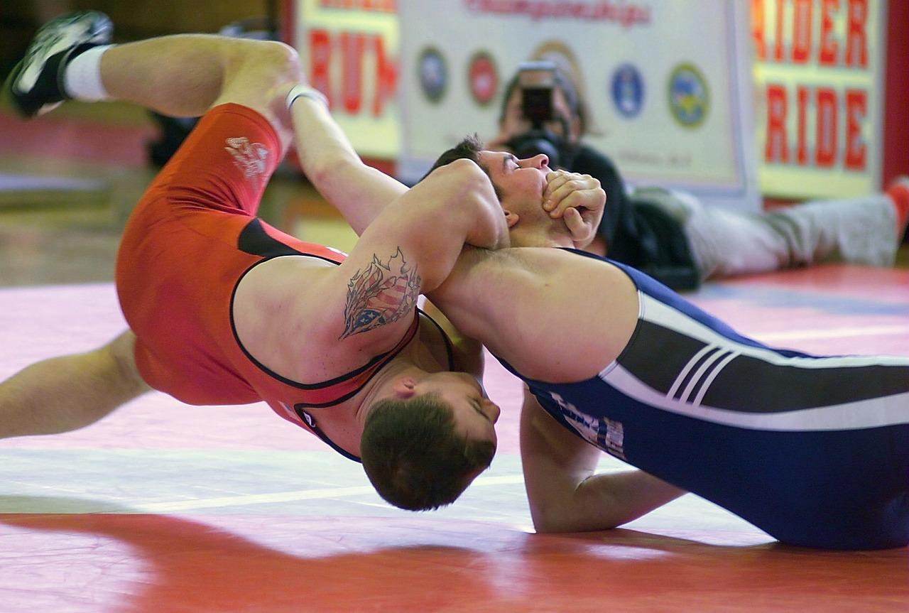 Men Wrestling!