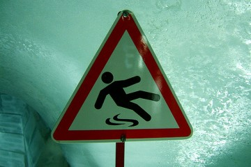 Caution slippery floor
